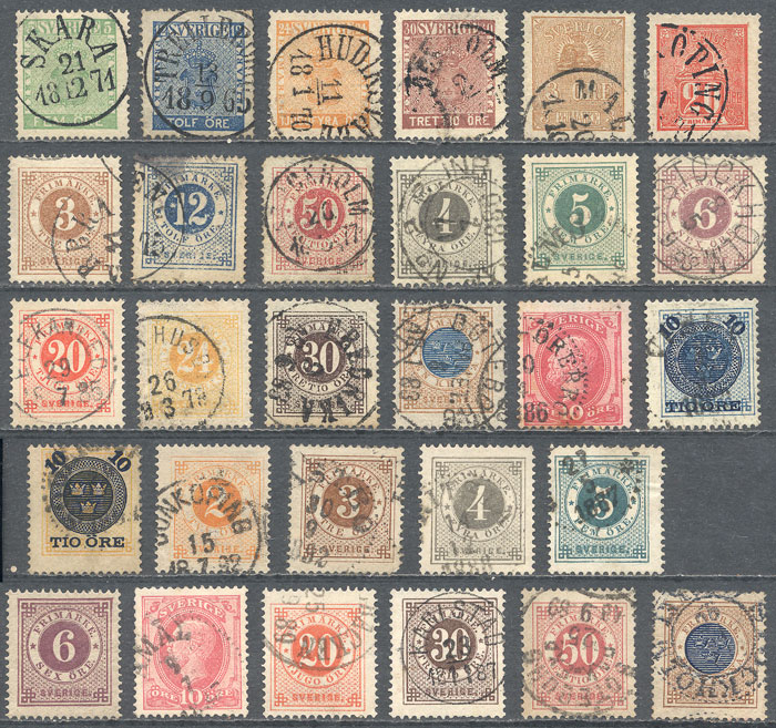 Lot 1263 - Sweden Lots and Collections -  Guillermo Jalil - Philatino Auction # 2039 WORLDWIDE + ARGENTINA: General September auction