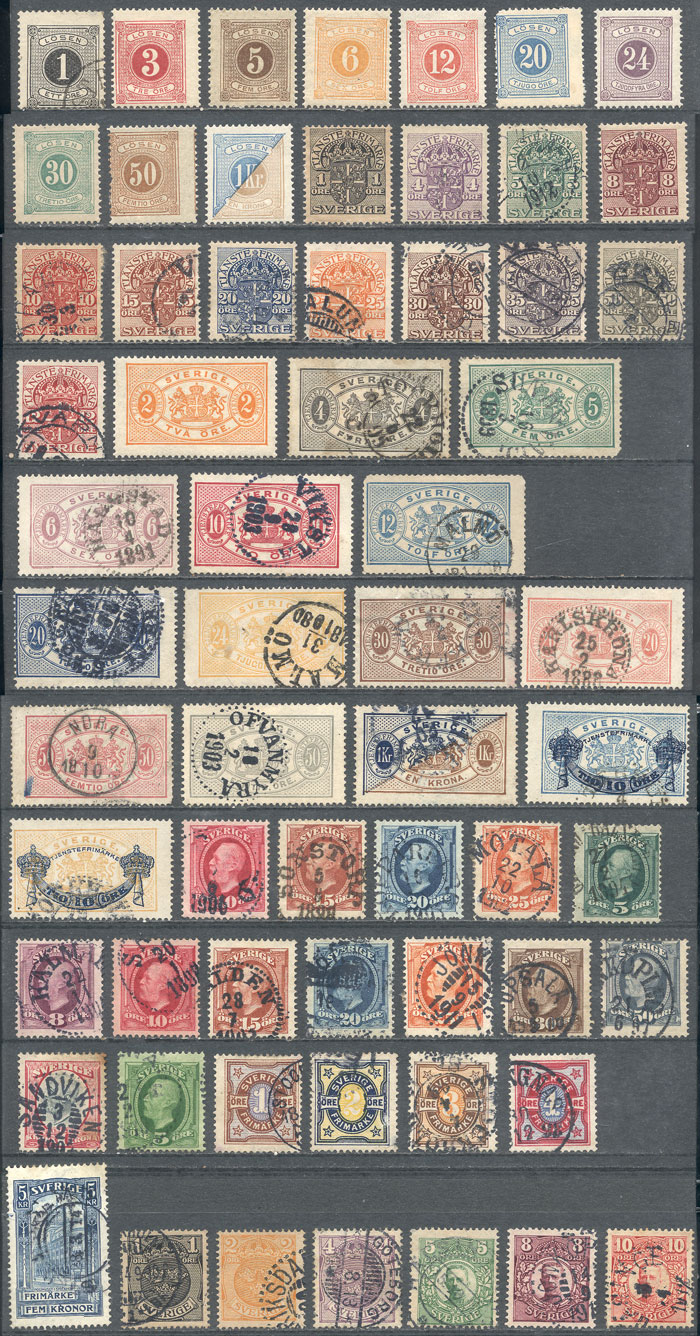 Lot 1267 - Sweden Lots and Collections -  Guillermo Jalil - Philatino Auction # 2039 WORLDWIDE + ARGENTINA: General September auction