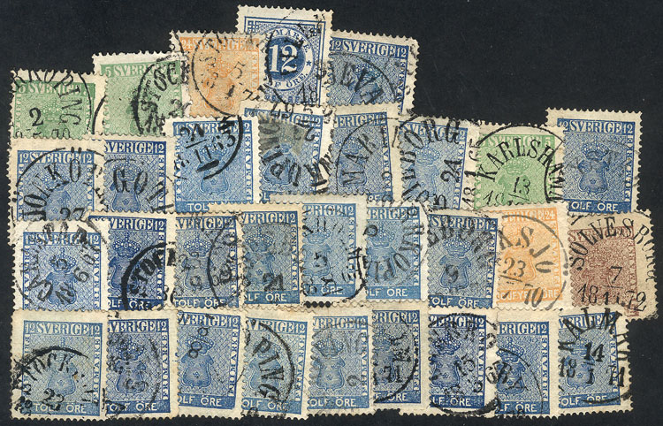 Lot 1262 - Sweden Lots and Collections -  Guillermo Jalil - Philatino Auction # 2039 WORLDWIDE + ARGENTINA: General September auction