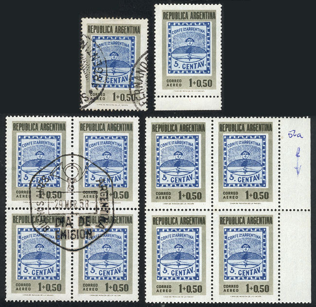 Lot 991 - Argentina general issues -  Guillermo Jalil - Philatino Auction # 2040 ARGENTINA: