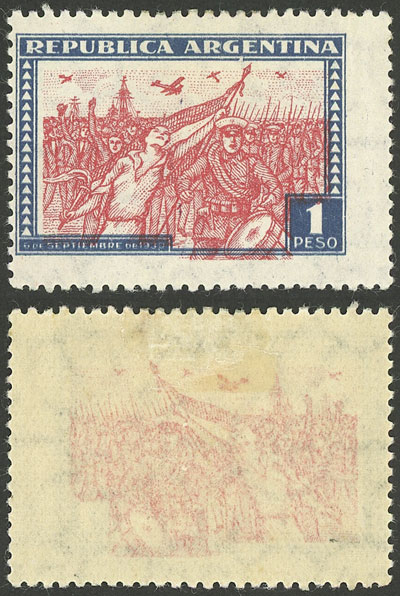 Lot 593 - Argentina general issues -  Guillermo Jalil - Philatino Auction # 2040 ARGENTINA: