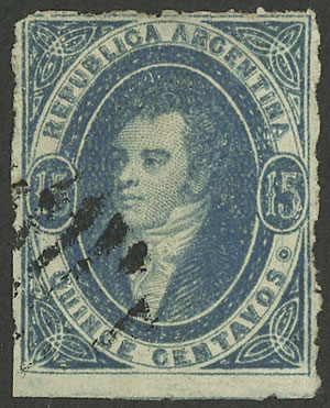 Lot 195 - Argentina rivadavias -  Guillermo Jalil - Philatino Auction # 2040 ARGENTINA: