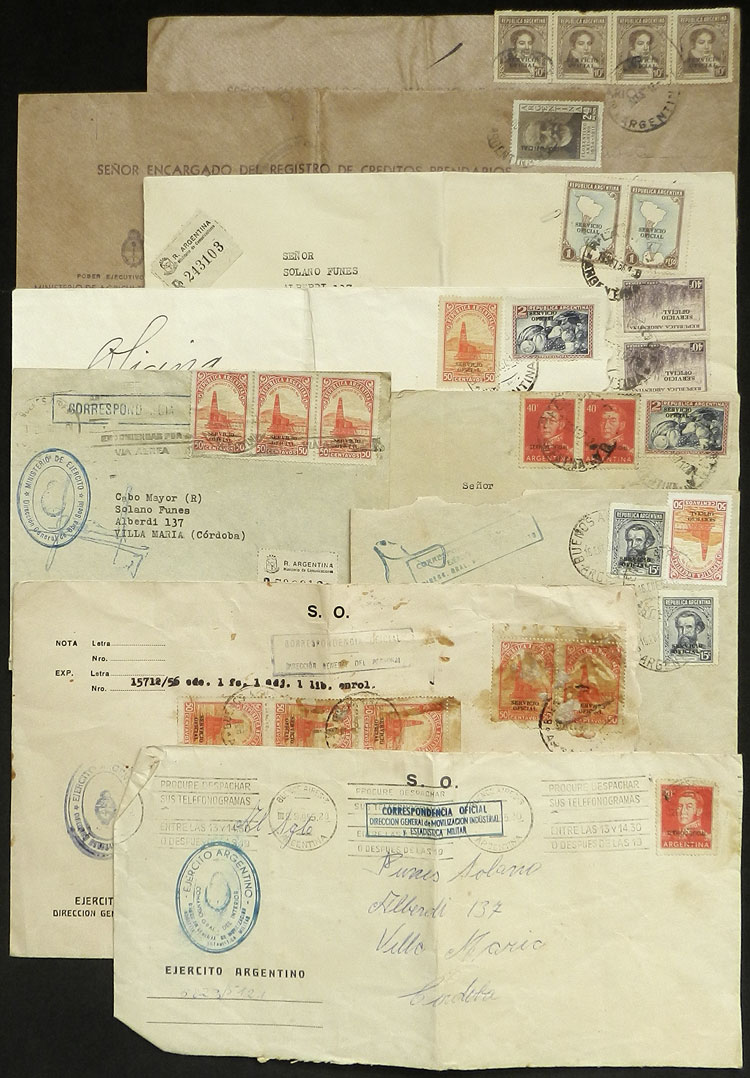 Lot 1866 - Argentina official stamps - postal history -  Guillermo Jalil - Philatino Auction # 2040 ARGENTINA: