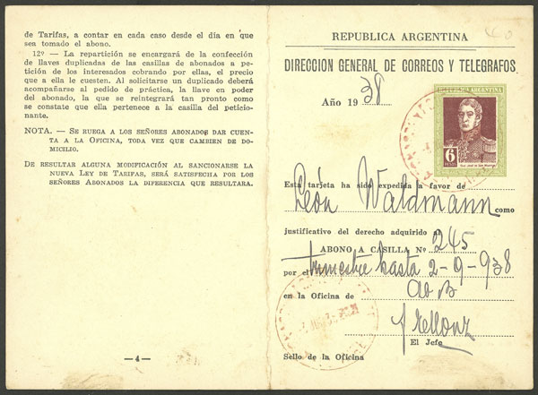 Lot 1903 - Argentina Postal stationery -  Guillermo Jalil - Philatino Auction # 2040 ARGENTINA: