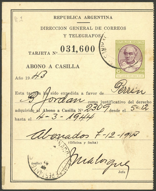Lot 1906 - Argentina Postal stationery -  Guillermo Jalil - Philatino Auction # 2040 ARGENTINA: