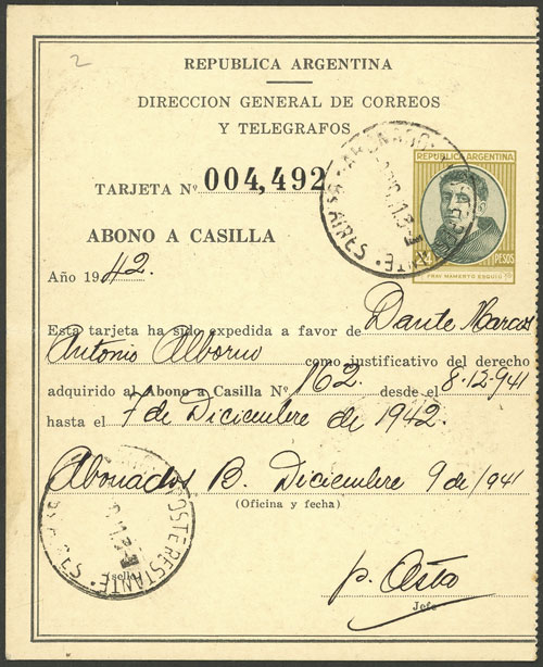 Lot 1908 - Argentina Postal stationery -  Guillermo Jalil - Philatino Auction # 2040 ARGENTINA: