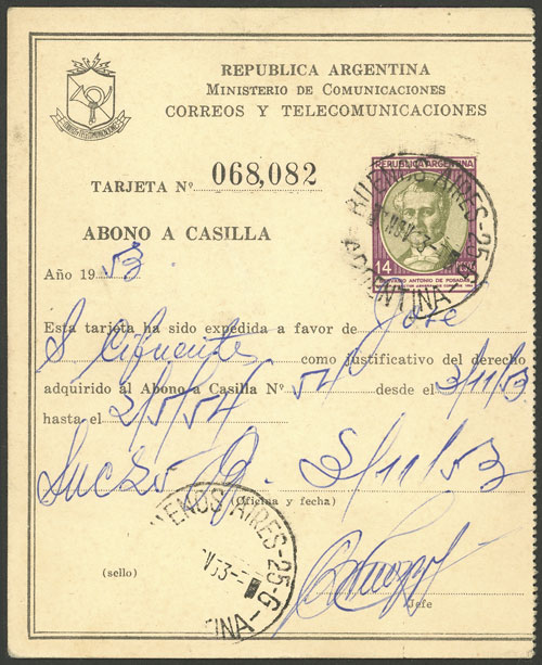 Lot 1911 - Argentina Postal stationery -  Guillermo Jalil - Philatino Auction # 2040 ARGENTINA: