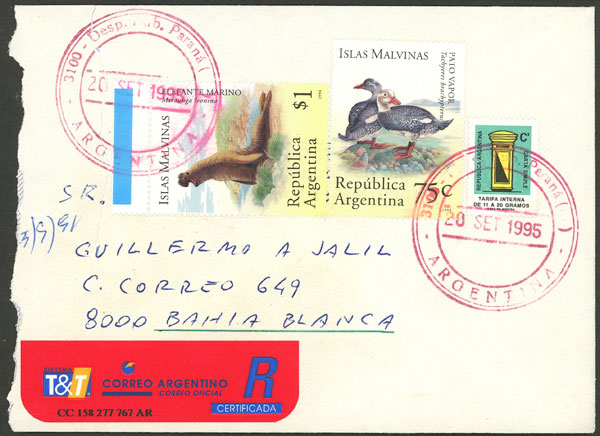 Lot 2082 - Argentina postal history -  Guillermo Jalil - Philatino Auction # 2040 ARGENTINA: