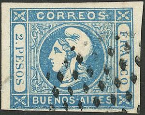Lot 81 - Argentina cabecitas -  Guillermo Jalil - Philatino Auction # 2040 ARGENTINA: