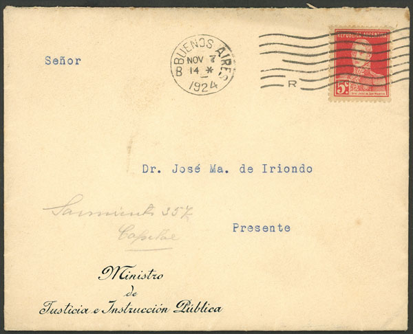 Lot 2000 - Argentina postal history -  Guillermo Jalil - Philatino Auction # 2040 ARGENTINA: