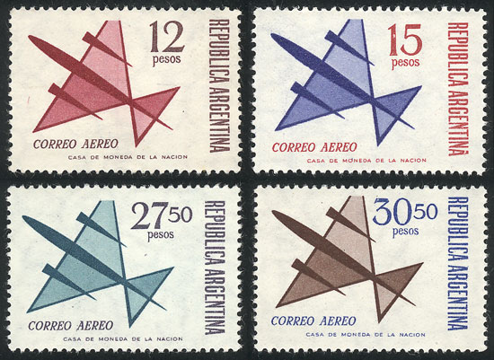 Lot 1491 - Argentina airmail -  Guillermo Jalil - Philatino Auction # 2040 ARGENTINA: