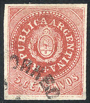 Lot 147 - Argentina escuditos -  Guillermo Jalil - Philatino Auction # 2040 ARGENTINA: