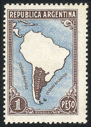 Lot 678 - Argentina general issues -  Guillermo Jalil - Philatino Auction # 2040 ARGENTINA: