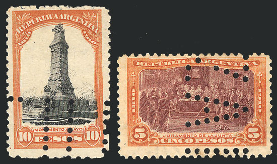 Lot 444 - Argentina general issues -  Guillermo Jalil - Philatino Auction # 2040 ARGENTINA:
