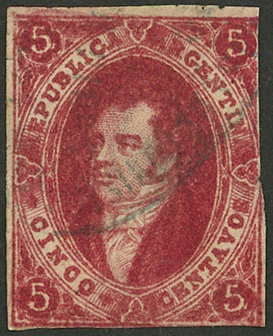 Lot 52 - Argentina rivadavias -  Guillermo Jalil - Philatino Auction # 2041 ARGENTINA: general auction with very low starts!