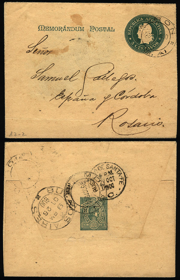 Lot 1383 - Argentina postal history -  Guillermo Jalil - Philatino Auction # 2041 ARGENTINA: general auction with very low starts!