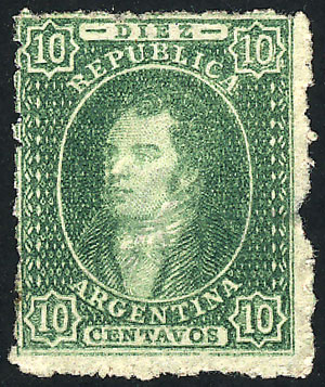 Lot 39 - Argentina rivadavias -  Guillermo Jalil - Philatino Auction # 2041 ARGENTINA: general auction with very low starts!