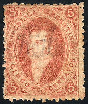 Lot 38 - Argentina rivadavias -  Guillermo Jalil - Philatino Auction # 2041 ARGENTINA: general auction with very low starts!