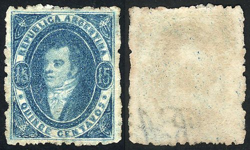 Lot 43 - Argentina rivadavias -  Guillermo Jalil - Philatino Auction # 2041 ARGENTINA: general auction with very low starts!