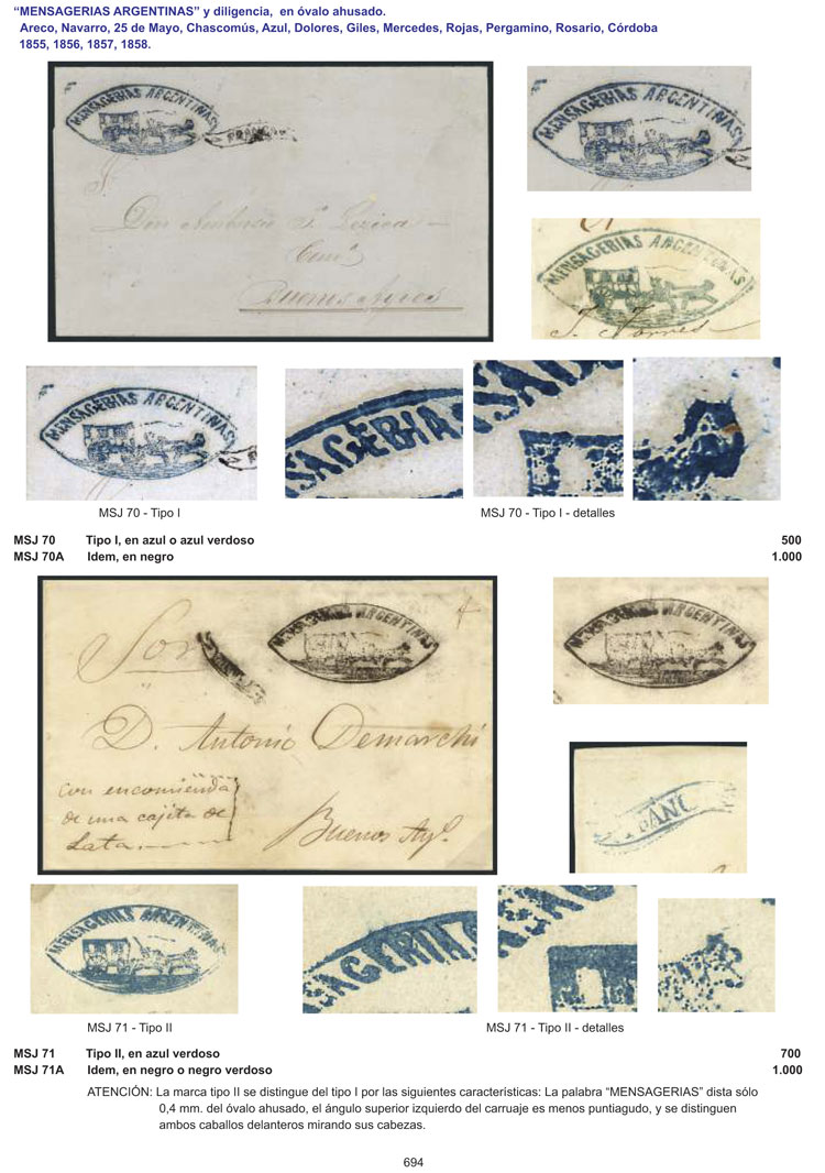 Lot 1 - Argentina books -  Guillermo Jalil - Philatino Auction # 2043 ARGENTINA: small but very attractive auction