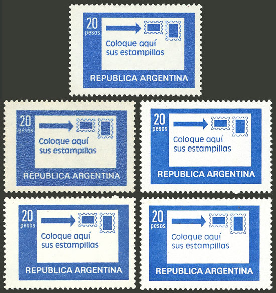 Lot 816 - Argentina general issues -  Guillermo Jalil - Philatino Auction # 2043 ARGENTINA: small but very attractive auction