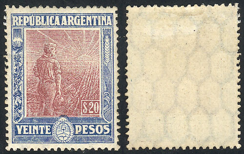 Lot 230 - Argentina general issues -  Guillermo Jalil - Philatino Auction # 2043 ARGENTINA: small but very attractive auction