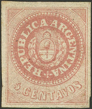 Lot 22 - Argentina escuditos -  Guillermo Jalil - Philatino Auction # 2043 ARGENTINA: small but very attractive auction
