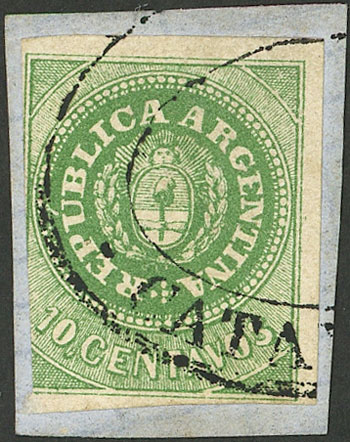 Lot 20 - Argentina escuditos -  Guillermo Jalil - Philatino Auction # 2043 ARGENTINA: small but very attractive auction