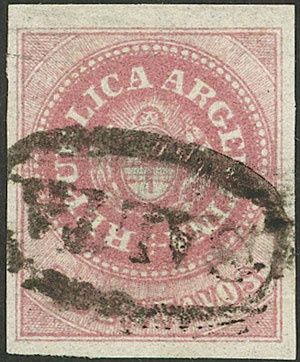 Lot 23 - Argentina escuditos -  Guillermo Jalil - Philatino Auction # 2043 ARGENTINA: small but very attractive auction