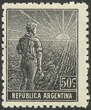 Lot 214 - Argentina general issues -  Guillermo Jalil - Philatino Auction # 2043 ARGENTINA: small but very attractive auction