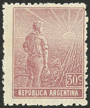 Lot 58 - Argentina general issues -  Guillermo Jalil - Philatino Auction # 2043 ARGENTINA: small but very attractive auction