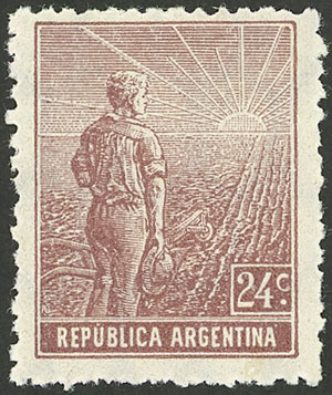 Lot 213 - Argentina general issues -  Guillermo Jalil - Philatino Auction # 2043 ARGENTINA: small but very attractive auction