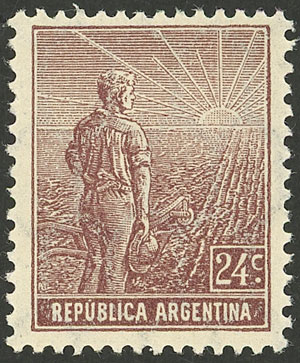 Lot 226 - Argentina general issues -  Guillermo Jalil - Philatino Auction # 2043 ARGENTINA: small but very attractive auction