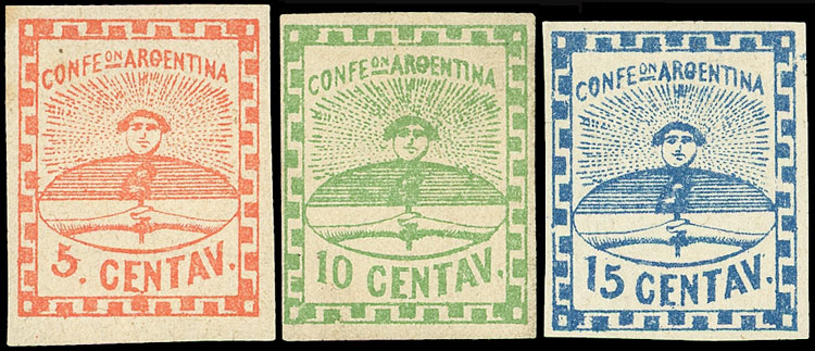 Lot 2 - Argentina confederation -  Guillermo Jalil - Philatino Auction # 2043 ARGENTINA: small but very attractive auction