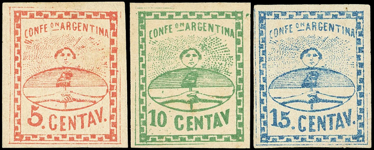 Lot 8 - Argentina confederation -  Guillermo Jalil - Philatino Auction # 2043 ARGENTINA: small but very attractive auction