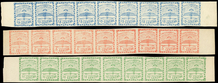 Lot 5 - Argentina confederation -  Guillermo Jalil - Philatino Auction # 2043 ARGENTINA: small but very attractive auction