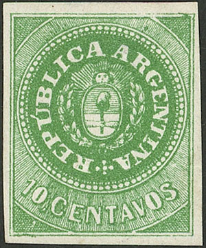 Lot 19 - Argentina escuditos -  Guillermo Jalil - Philatino Auction # 2043 ARGENTINA: small but very attractive auction