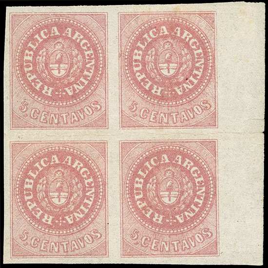 Lot 21 - Argentina escuditos -  Guillermo Jalil - Philatino Auction # 2043 ARGENTINA: small but very attractive auction