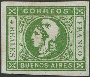 Lot 10 - Argentina cabecitas -  Guillermo Jalil - Philatino Auction # 2043 ARGENTINA: small but very attractive auction