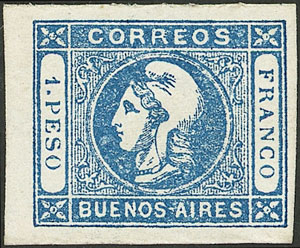 Lot 12 - Argentina cabecitas -  Guillermo Jalil - Philatino Auction # 2043 ARGENTINA: small but very attractive auction