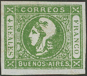 Lot 11 - Argentina cabecitas -  Guillermo Jalil - Philatino Auction # 2043 ARGENTINA: small but very attractive auction