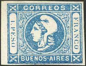 Lot 13 - Argentina cabecitas -  Guillermo Jalil - Philatino Auction # 2043 ARGENTINA: small but very attractive auction