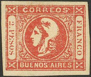 Lot 14 - Argentina cabecitas -  Guillermo Jalil - Philatino Auction # 2043 ARGENTINA: small but very attractive auction