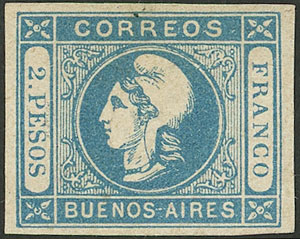 Lot 15 - Argentina cabecitas -  Guillermo Jalil - Philatino Auction # 2043 ARGENTINA: small but very attractive auction