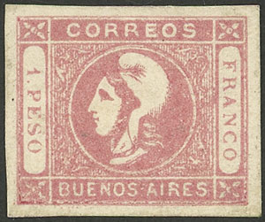 Lot 16 - Argentina cabecitas -  Guillermo Jalil - Philatino Auction # 2043 ARGENTINA: small but very attractive auction