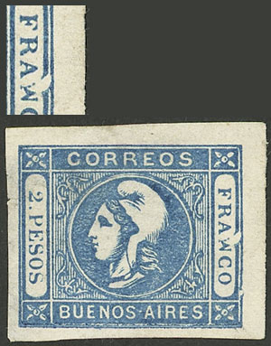 Lot 17 - Argentina cabecitas -  Guillermo Jalil - Philatino Auction # 2043 ARGENTINA: small but very attractive auction