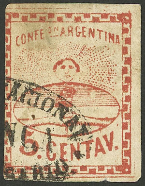 Lot 9 - Argentina confederation -  Guillermo Jalil - Philatino Auction # 2043 ARGENTINA: small but very attractive auction