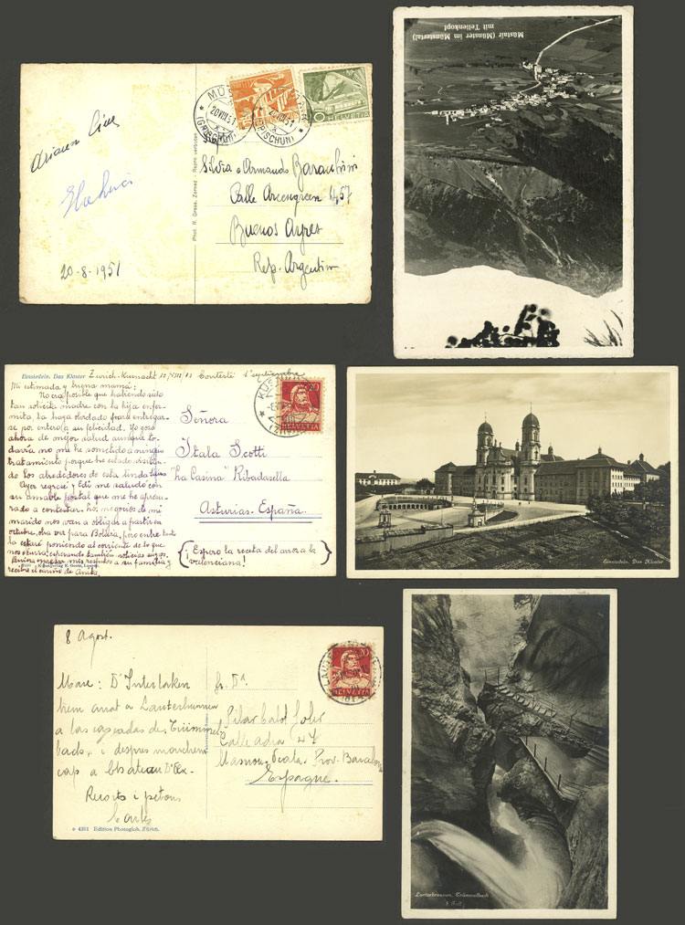 Lot 956 - Switzerland postal history -  Guillermo Jalil - Philatino Auction # 2044 WORLDWIDE + ARGENTINA: General October auction