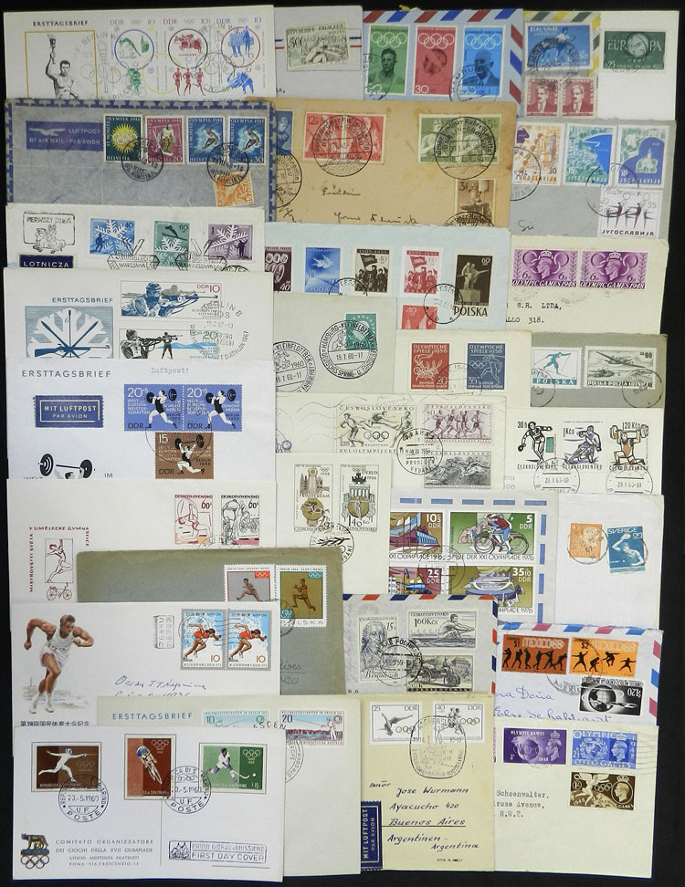 Lot 7 - topic sport postal history -  Guillermo Jalil - Philatino Auction # 2044 WORLDWIDE + ARGENTINA: General October auction