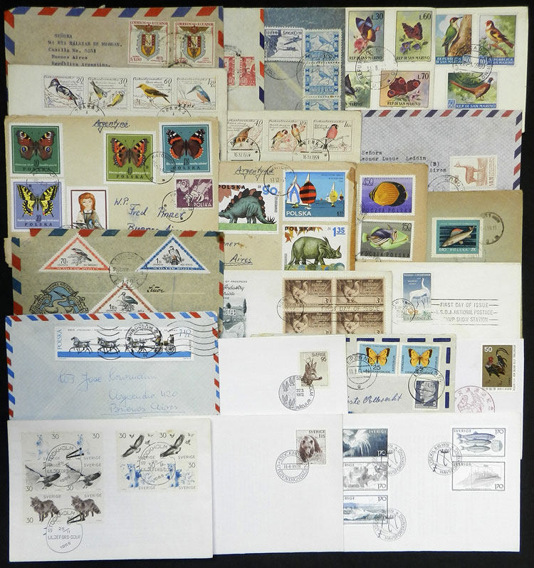 Lot 14 - topic fauna postal history -  Guillermo Jalil - Philatino Auction # 2044 WORLDWIDE + ARGENTINA: General October auction